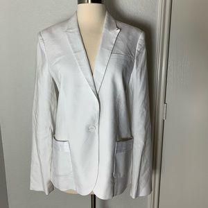 Calvin Klein white linen blazer